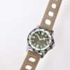 Montre plongée vintage bracelet beige