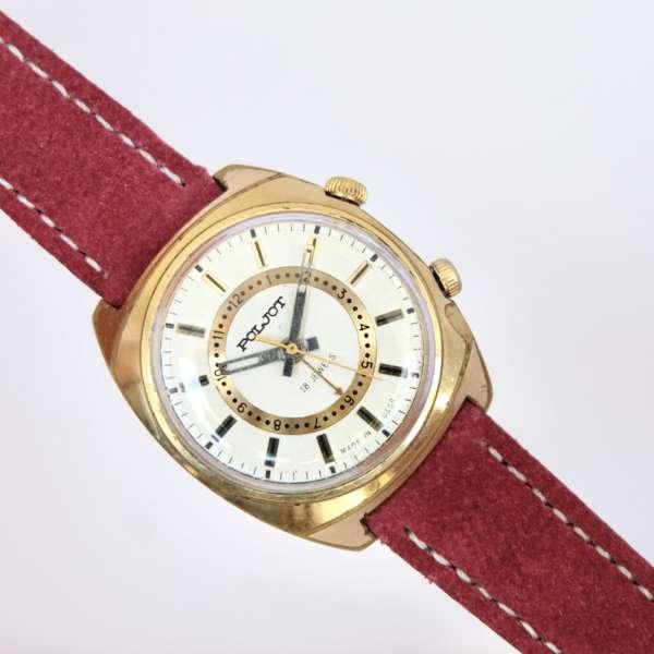 montre dorée soviétique réveil mécanique