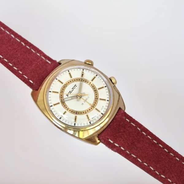 montre dorée soviétique bracelet daim