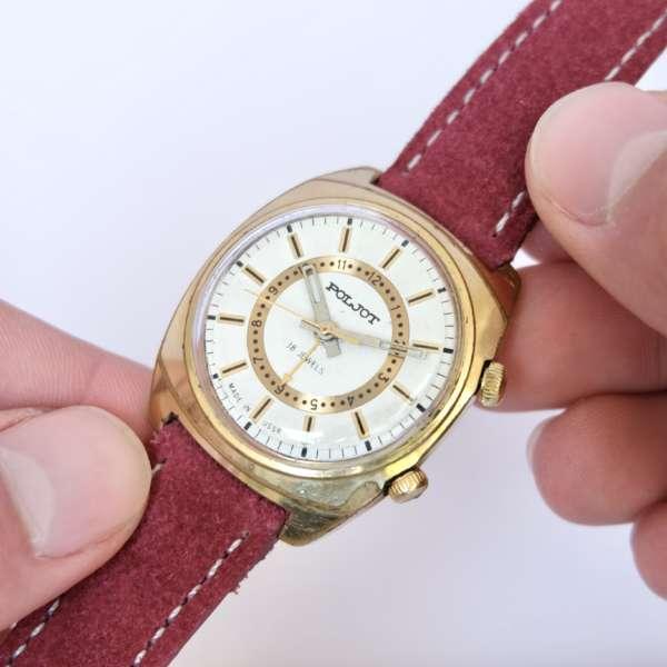 montre dorée soviétique russe