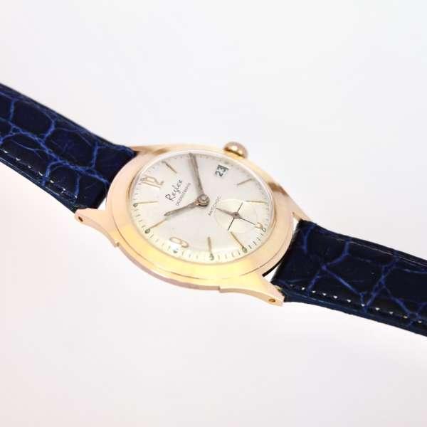 Montre femme homme bracelet bleu date seconde