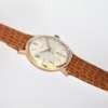 Montre or femme ancienne marron effet crocodile bracelet
