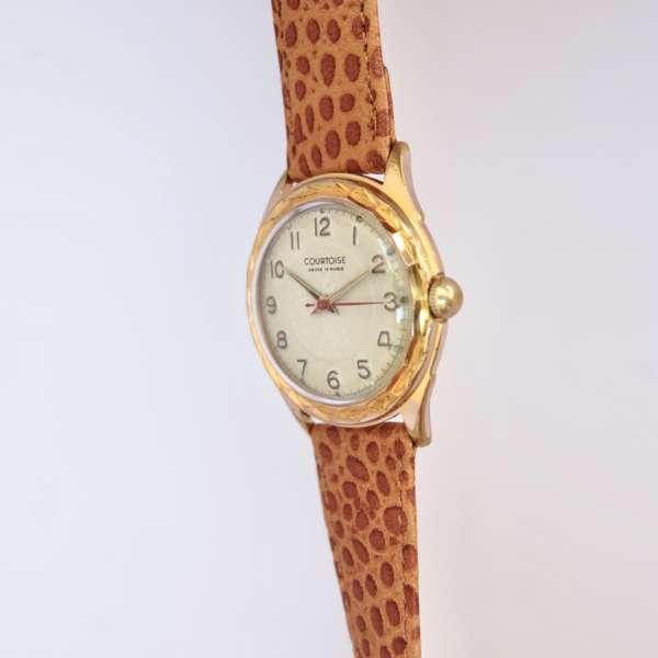 Montre bracelet marron idée cadeau vintage révisée