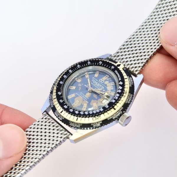 Bracelet mesh métallique montre vintage