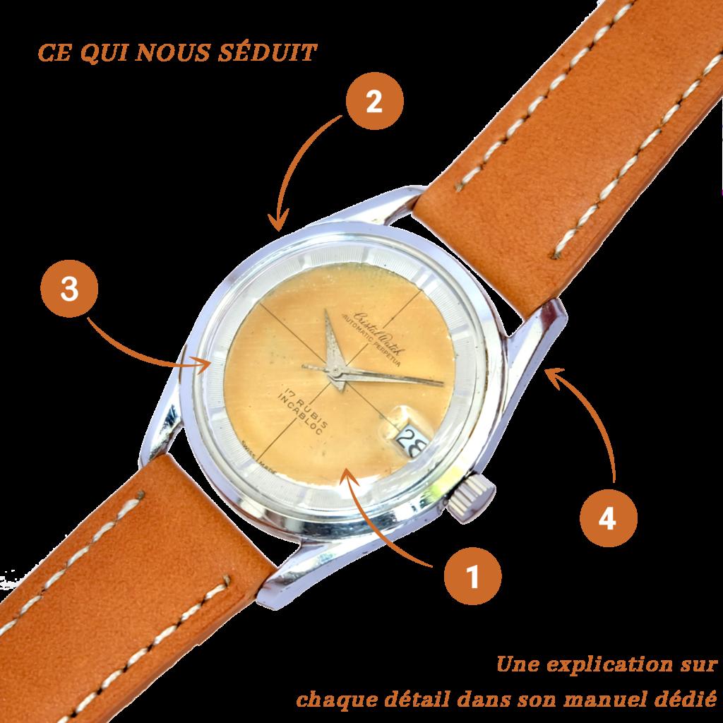 Explication vintage histoire cristal watch