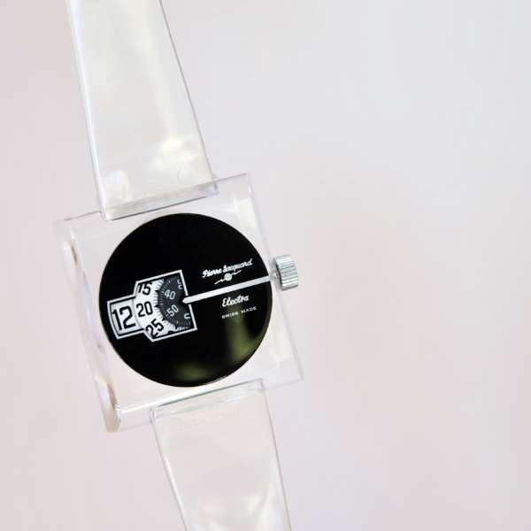 Montre Électra Lip Pierre Jacquard vintage numérique
