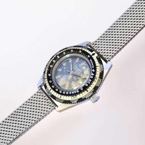 Montre plongée ancienne bracelet maille milanaise